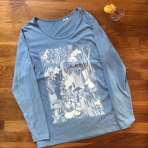 Moomin for Uniqlo Graphic Long-Sleeved Top